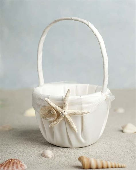 Flower Wedding Baskets by Quot Starfish Shell Quot Wedding Flowergirl Basket