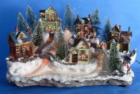 china 14 quot fiber optic villages with xmas music 12049