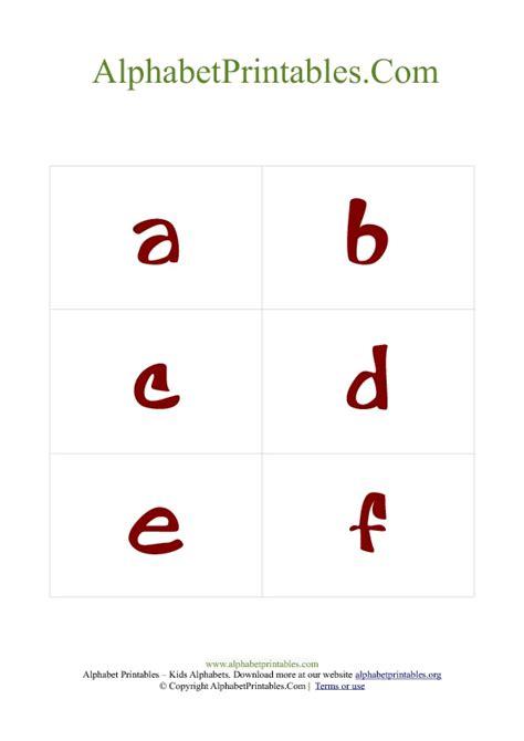 Flash Card Templates Pdf by Alphabet Flash Cards Pdf Template Lowercase Alphabet
