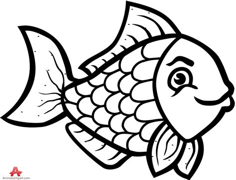 fish clipart clipart black and white fish collection