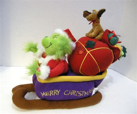 dr seuss how the grinch stole christmas singing plush