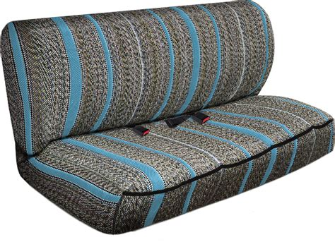 bench seat cover suv van truck seat cover light blue western woven saddle