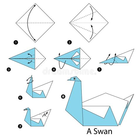 How To Fold A Swan With Paper - step by step how to make origami a swan