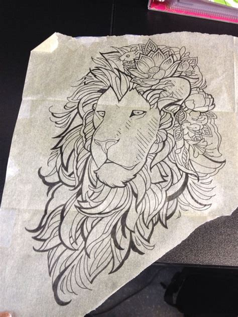 lion outline tattoo outline for idea ideas