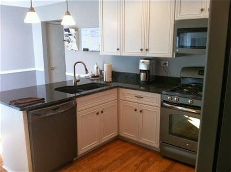 slate appliances with off white cabinets slate appliances white cabnets grey walls kitchens