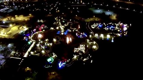 botanica lights christmas 2013 wichita aerial video youtube