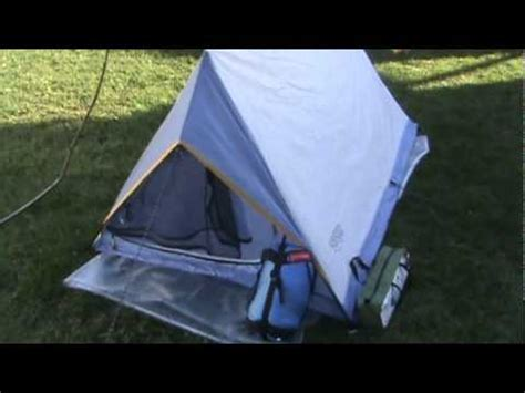 Back At The Tents by Back Packing On A Budget Wenzel Tent Review Wmv
