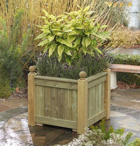 Wooden Versailles Planters by Versailles Planter Square Wooden Planter Made