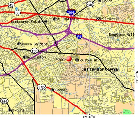 jeffersontown kentucky map 40220 zip code jeffersontown kentucky profile homes