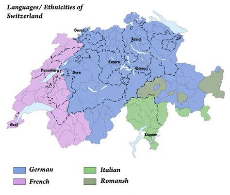 switzerland map languages languages and ethnicities of switzerland by arminius1871