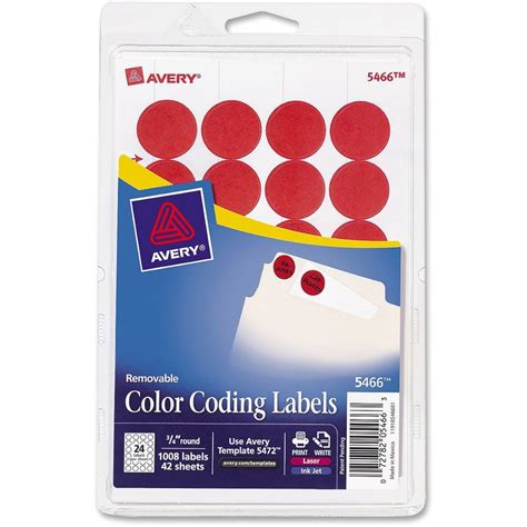 avery 174 3 4 quot color coding labels mac papers inc