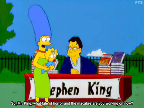 The Simpsons Stephen King It Pennywise the king and the clown