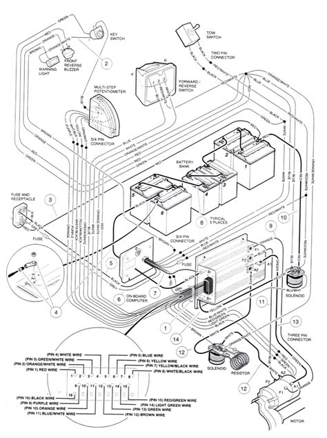 2009 club car precedent battery wiring diagram wiring