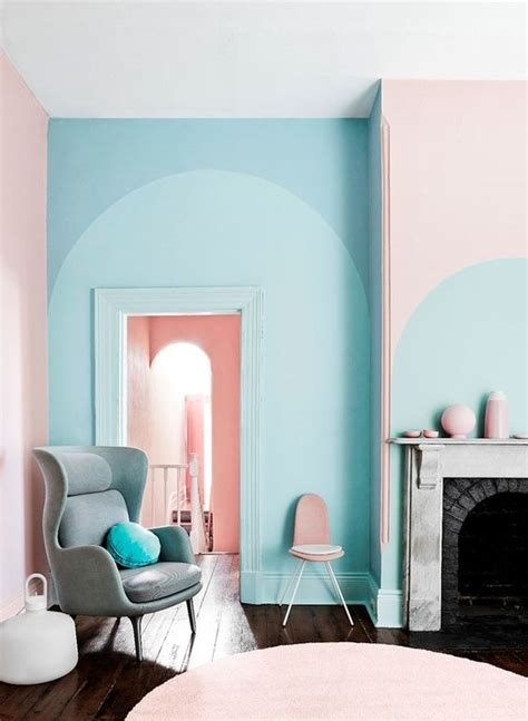 pink  blue interiors     swoon daily