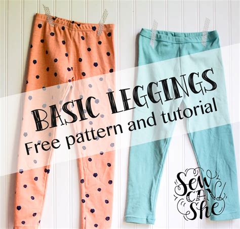 pattern making for beginners basic leggings for girls free pattern and tutorial