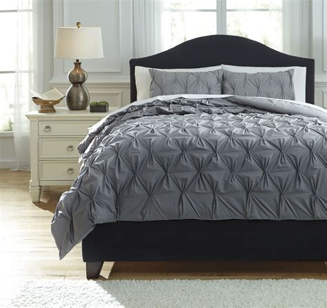 gray comforter sets queen rimy gray queen comforter set from ashley q756023q