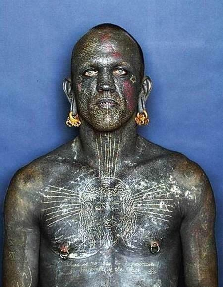 most tattooed person paranormal and strange world lucky rich world s