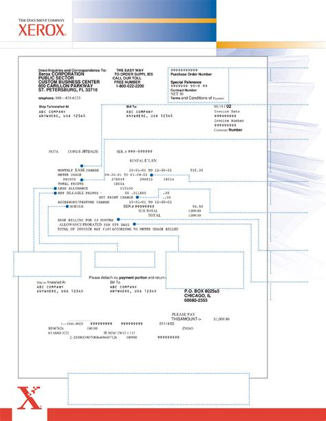 download xerox rental invoice template exle for free