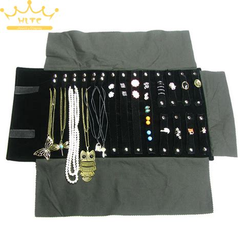 how to make a jewelry roll bag free shipping velvet jewelry display roll bag travel