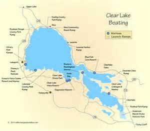 clear lake map california clear lake boating map