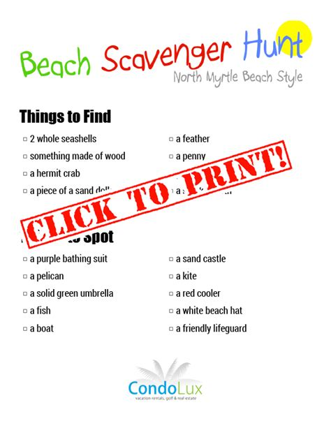 small round boat crossword family activity time beach scavenger hunt printable pdf