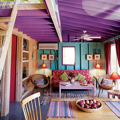 purple floor l painting wood floors