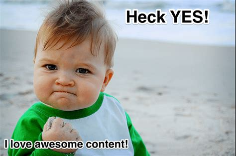 Excited Face Meme - top 3 recommended marketing blog posts rival iq blog