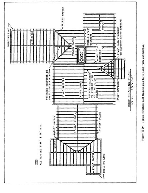 wood floor framing plan figure 10 20 typical structural roof framing plan for a wood frame construction