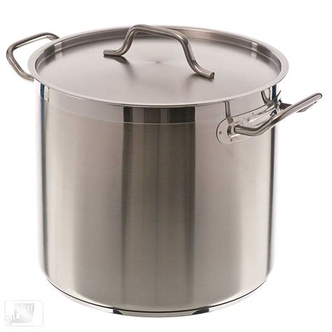 large induction stock pot update international sps 16 16 qt induction ready stainless steel stock pot w cover