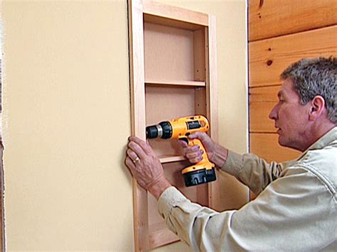 convert medicine cabinet to shelving how to attach a pre fabricated medicine cabinet how tos