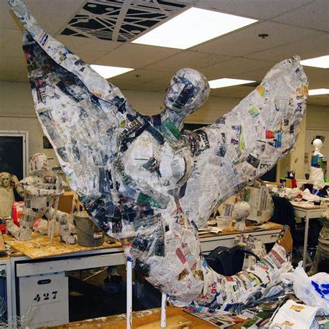 Paper Mache Process - paper mache sculpture tara gerke