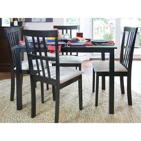 Studio Dining Table Set Shop Baxton Studio Jet Wenge 5 Dining Set With Dining Table At Lowes