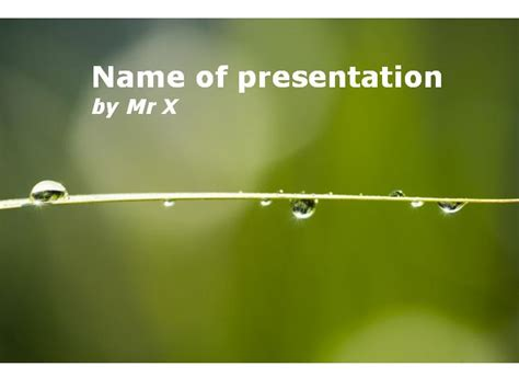 multiple themes in ppt multiple rain water drops powerpoint template