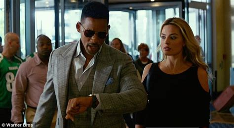 film romance will smith will smith displays chiselled abs with margot robbie in