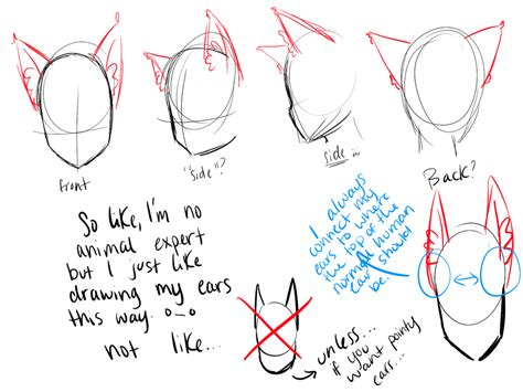 human pattern drawing wolf ear tutorial by purindi on deviantart