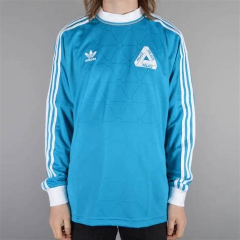 Tshirt Adidas Merah Zero X Store palace skateboards x adidas originals lsl team shirt bold aqua skate clothing from