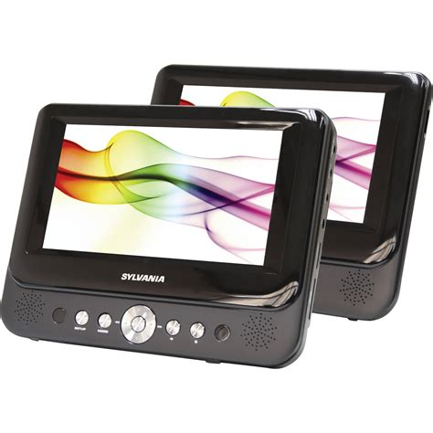 Dvd Portable Ibox 7 Harga Murah Sylvania Sdvd8737 7 Quot Dual Screen Portable Dvd Sdvd8737a B H