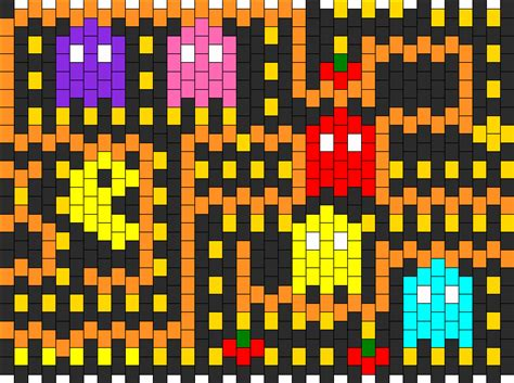 youtube pacman pattern pacman bead pattern peyote bead patterns characters