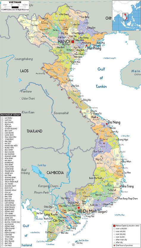 printable maps vietnam detailed political map of vietnam ezilon maps