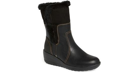 softspots corby waterproof wedge boot in black lyst