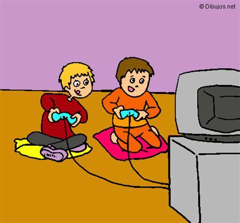 dibujos de niños jugando xbox dibujo de ni 241 os jugando pintado por aome19 en dibujos net