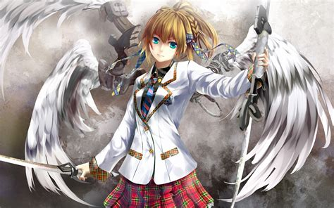 anime girl angel wallpaper download wallpaper 1920x1200 anime angel girl with a sword