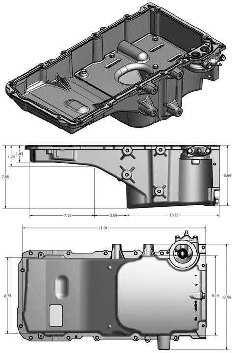LS2 / LS6 / LSA Present Cadillac CTS-V Oil Pan Dimensions