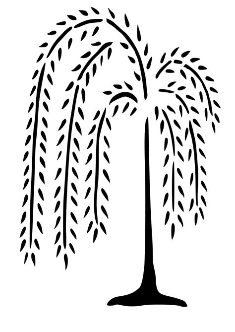 Country Star Decorations Home by Primitive Country Willow Tree Wall Decal Wall Decor Fotofuze
