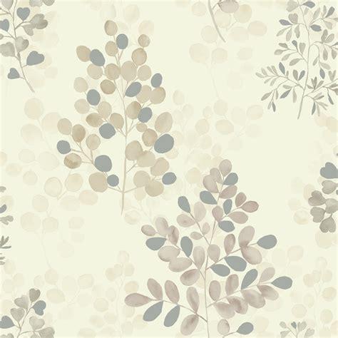 Wallpaper Uk 45cmx10m Silver Leaf leaf pattern wallpaper gallery