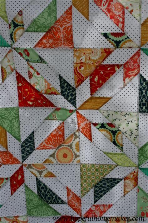 quilt pattern hunters star reminisce scrappy hunter s star quilt top hopeful homemaker