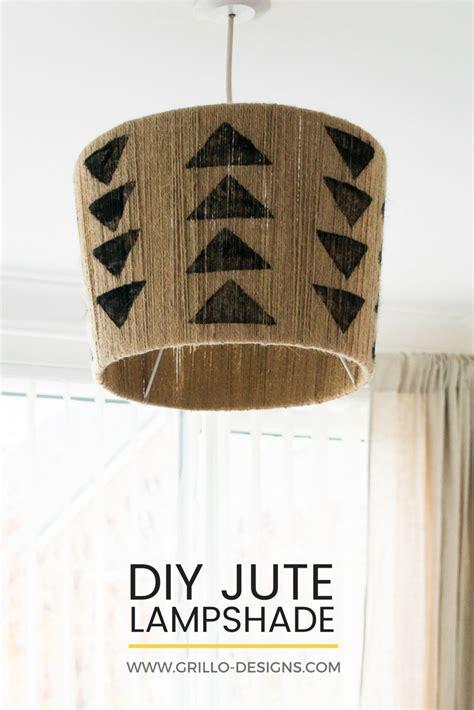 easiest diy jute lampshade youll   grillo