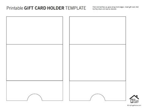 money holder card template printable gift card holder templates