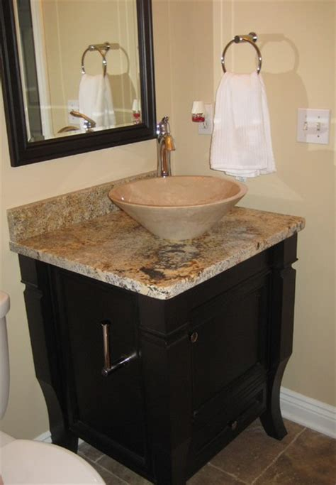 Powder Bath Vanity Powder Room Vanity Modern Bathroom Cleveland By