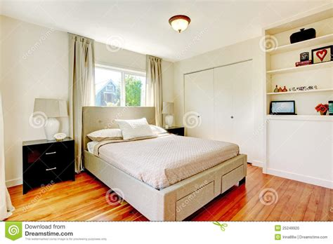 white wood floor bedroom white bedroom with hardwood cherry floor stock photo image 25248920